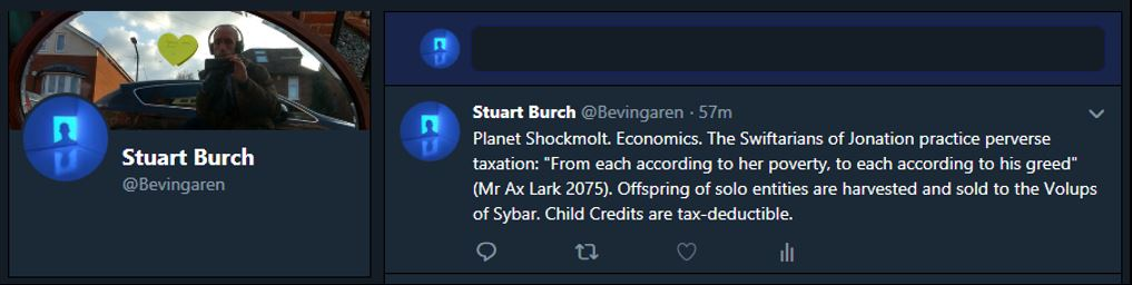 Planet Shockmolt. Economics. The Swiftarians of Jonation practice perverse taxation: