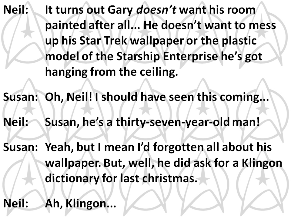 Gary Horrobin's bedroom - the final frontier