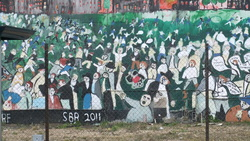 Mural commemorating the Bristol riots of 1831
