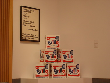 Brillo boxes by Pontus Hultén
