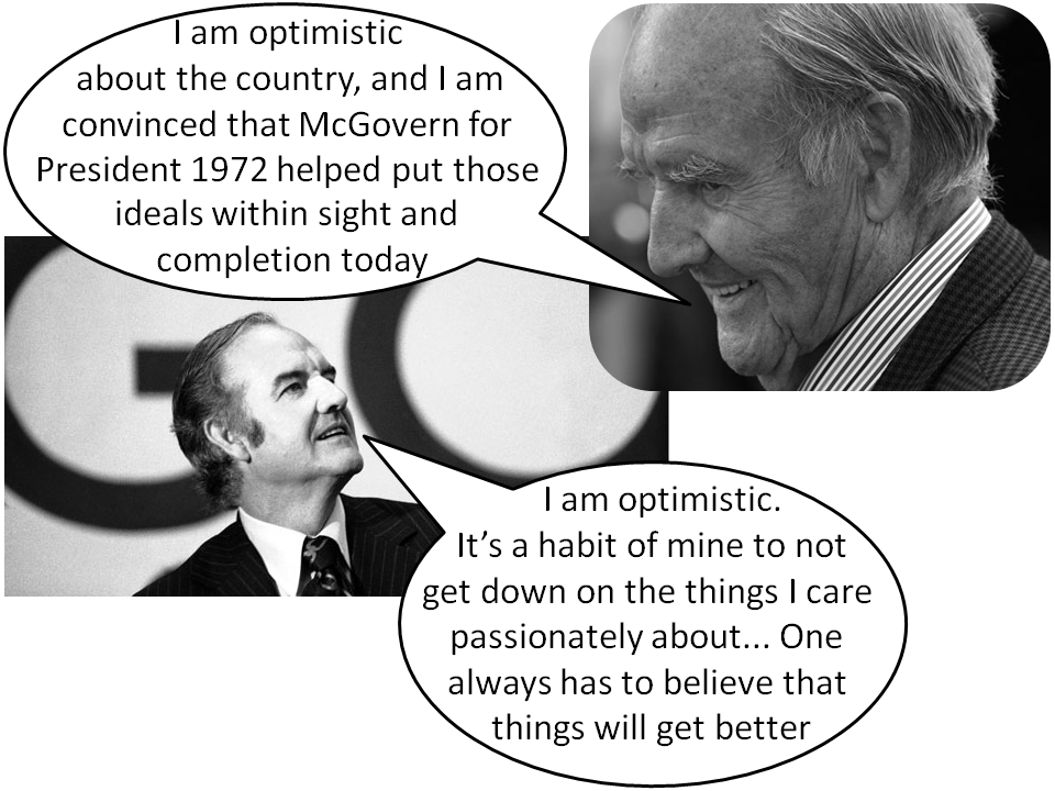 George McGovern, optimist