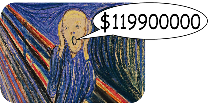Edvard Munch's The Scream sold at Sotheby's, New York for $119900000