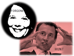 Jeremy Hunt and Liz Forgan