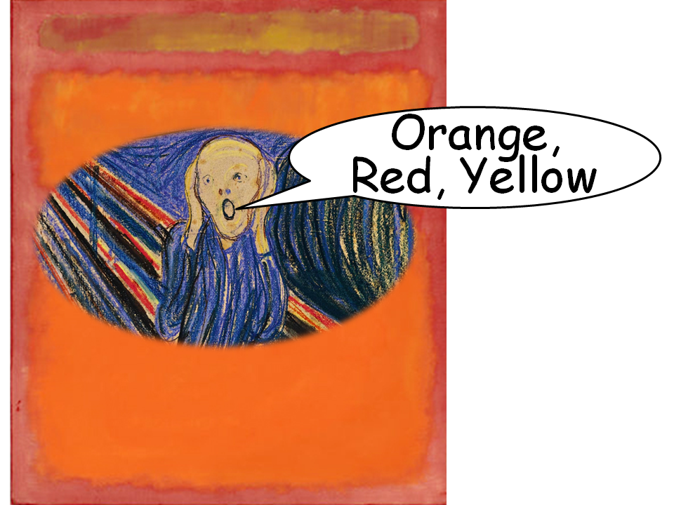 Edvard Munch's The Scream meets Mark Rothko's Orange, Red, Yellow