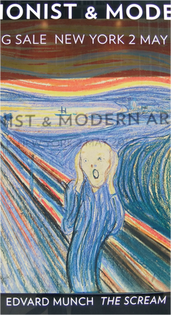 Edvard Munch's The Scream in Sotheby's window
