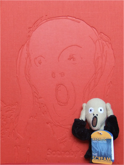 Sotheby's Edvard Munch The Scream catalogue and finger puppet