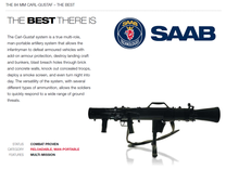 Saab AB Carl Gustav 84mm Recoilless Rifle. The best multi-purpose weapon there is